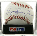 "Autographs:Baseballs, Ernie Banks Single Signed Baseball, PSA Mint+ 9.5. Beloved Bostonoutfielder Dwight Evans has applied his ""Dewey"" nickname t..."