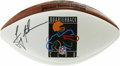 Football Collectibles:Balls, Troy Aikman Single Signed Football. Cowboys Hall of Famer Troy Aikman has made the NFL Quarterback Club souvenir football t...