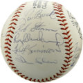 Autographs:Baseballs, 1971 St. Louis Cardinals Team Signed Baseball. Clean white ONL(Feeney) orb sports the signatures of twenty members from th...