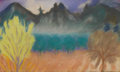 Fine Art - Painting, American:Modern  (1900 1949)  , CARL SPRINCHORN (American 1887-1971). Foothills at La Canada,California, 1919. Pastel on paper. 16-3/4 x 23-1/2 inches ...