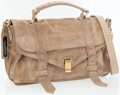 Proenza Schouler PS1 Large Suede Flap Front Satchel Bag with Top Handle