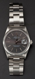 Timepieces:Wristwatch, Rolex Gent's Steel Oyster Perpetual Wristwatch. ...