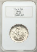 Commemorative Silver: , 1936-D 50C Texas MS65 NGC. NGC Census: (431/957). PCGS Population(727/1276). Mintage: 9,039. Numismedia Wsl. Price for pro...