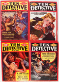 Pulps:Detective, Ten Detective Aces Group (Ace Magazines, Inc., 1942-43) Condition:Average VG.... (Total: 14 Items)