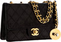 Luxury Accessories:Bags, Chanel Black Lambskin Leather Mini Flap Bag with Gold Hardware. ...