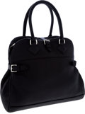 Luxury Accessories:Bags, Hermes 35cm Black Togo Leather Atlas Bag with Palladium Hardware....