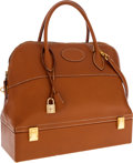 Luxury Accessories:Bags, Hermes Gold Epsom Leather Macpherson Bolide Bag with Shoulder Strap& Gold Hardware. ...