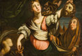 Fine Art - Painting, European:Antique  (Pre 1900), BOLOGNESE SCHOOL (17th Century). Judith with the Head ofHolofernes. Oil on canvas. 31-1/4 x 46 inches (79.4 x 116.8cm)...