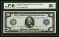 Large Size:Federal Reserve Notes, Fr. 989 $20 1914 Federal Reserve Note PMG Gem Uncirculated 65 EPQ.. ...