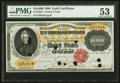 Large Size:Gold Certificates, Fr. 1225c $10000 1900 Gold Certificate PMG About Uncirculated 53.. ...