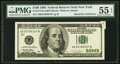 Error Notes:Foldovers, Fr. 2175-B $100 1996 Federal Reserve Note. PMG About Uncirculated55 EPQ.. ...