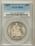 Seated Half Dollars: , 1879 50C MS66 PCGS. PCGS Population (44/16). NGC Census: (31/8).Mintage: 4,800. Numismedia Wsl. Price for problem free NGC...