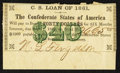 Confederate Notes:Group Lots, Confederate $40 1861 Bond Coupon.. ...