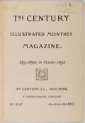 Books:Literature Pre-1900, [Periodicals]. The Century: Illustrated Monthly Magazine: May1892 to October 1892. New York, The Century Co., 1892....