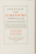Books:Americana & American History, [Norman Rockwell]. Benjamin Franklin. Norman Rockwell. Illustrator.SIGNED/INSCRIBED. Poor Richard's Almanacks. New ...