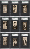 "Non-Sport Cards:Sets, 1929 Carreras ""Paramount Stars"" SGC-Graded Complete Set (27)...."