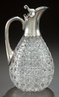 Silver Holloware, British, A JOHN GRINSELL & SONS SILVER MOUNTED CUT GLASS EWER. Circa1903-1904. Marks: (lion passant), (leopard's head), J.G. &S, ...