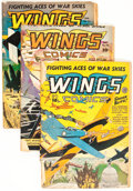Golden Age (1938-1955):War, Wings Comics Group (Fiction House, 1943-46) Condition: AverageGD-.... (Total: 12 Comic Books)