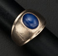 Estate Jewelry:Rings, Synthetic Star Sapphire, Gold Ring. ...