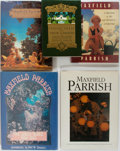 Books:Art & Architecture, Maxfield Parrish. Illustrator. Group of Five. Various publishers.Three monographs, a fully illustrated children's book, and...(Total: 5 Items)