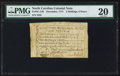Colonial Notes:North Carolina, North Carolina December, 1771 2s 6d PMG Very Fine 20.. ...