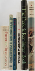 Books:Art & Architecture, [Frederic Remington]. Group of Six. Various publishers. Monographs and a biography. Largest measures 13 x 12 inches. Previou... (Total: 6 Items)