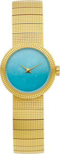 "Estate Jewelry:Watches, Dior Lady's Turquoise, Gold ""La D De Dior"" Wristwatch. ..."