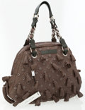 Luxury Accessories:Bags, Marc Jacobs Brown and Green Leather Dancer Tasseled Leather Bag....