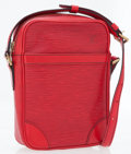 Luxury Accessories:Bags, Louis Vuitton Castillan Red Epi Leather Danube Crossbody Bag . ...