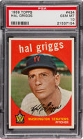 Baseball Cards:Singles (1950-1959), 1959 Topps Hal Griggs #434 PSA Gem Mint 10 - Pop Two, None Higher! ...