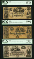 Obsoletes By State:Louisiana, New Orleans, LA- The New Orleans Canal and Banking Co. $20 (2) $100. ... (Total: 3 notes)