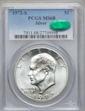 Eisenhower Dollars: , 1972-S $1 Silver MS68 PCGS. CAC. PCGS Population (1486/15). NGC Census: (387/5). Mintage: 2,193,056. Numismedia Wsl. Price ...