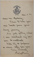 Autographs:Inventors, Admiral Robert E. Peary Autograph Letter Signed....