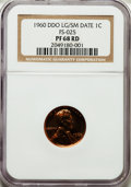 Proof Lincoln Cents, 1960 1C Large Over Small Date PR68 Red NGC. FS-101....