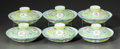 Asian:Chinese, A SET OF SIX CHINESE GUANGXU PORCELAIN BOWLS WITH COVERS. GuangxuPeriod, 1871-1908. Marks: (Guangxu period marks). 2 inches...(Total: 6 Items)