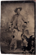 Photography:Studio Portraits, [Texas Rangers]. Studio Portrait of an Unidentified Ranger, circa 1880....