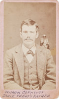 Photography:Studio Portraits, [Texas Rangers]. Private William T. Clements Carte de Visite, circa 1879....