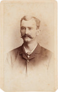 Photography:CDVs, [Texas Rangers]. Private James. C. Barringer Carte deVisite, 1886....