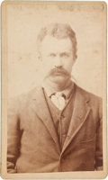 Photography:Signed, [Texas Rangers]. Private W. H. Preldleford Portrait, circa 1885....