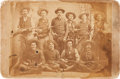 "Photography:CDVs, [Texas Rangers]. Company ""F"" Frontier Battalion Cabinet Card,circa 1882...."