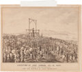 "Miscellaneous:Ephemera, [John Coffee ""Jack"" Hays]. California Letter Sheet Stone Lithograph: ""Execution of Jose Forner, Dec. 10, 1852...."
