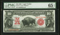 Large Size:Legal Tender Notes, Fr. 114 $10 1901 Legal Tender PMG Gem Uncirculated 65 EPQ.. ...