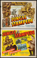 "Movie Posters:Documentary, Jungle Stampede (Republic, 1950). Half Sheets (2) (22"" X 28""). Styles A and B. Documentary.. ... (Total: 2 Items)"