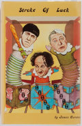 Books:Biography & Memoir, [Three Stooges]. James Carone. Stroke of Luck: As Told By Larry Fine. Siena Publishing Co., 1976. Profusely illustra...