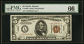 Small Size:World War II Emergency Notes, Fr. 2302 $5 1934A Hawaii Federal Reserve Note. PMG Gem Uncirculated 66.. ...
