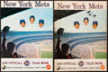 Baseball Collectibles:Publications, 1969 New York Mets Yearbooks Lot of 2 - World ChampionshipSeason!...