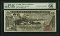 Large Size:Silver Certificates, D.N. Morgan Courtesy Autograph Fr. 224 $1 1896 Silver Certificate PMG Gem Uncirculated 66 EPQ. . ...