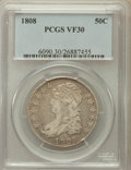 Bust Half Dollars: , 1808 50C VF30 PCGS. PCGS Population (39/480). NGC Census: (22/383).Mintage: 1,368,600. Numismedia Wsl. Price for problem f...