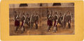 Photography:Stereo Cards, Mexican Artillery Stereocard, circa 1865....