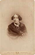 Photography:Cabinet Photos, Mrs. Albert Sidney Johnston Cabinet Card, circa 1870s....